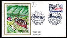 FRANCE FDC - 2373 1 SAUVETAGE DU LAC LEMAN - 15 Juin 1985 - LUXE sur soie