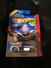 HW HOT WHEELS 2013 HW RACING #105/250 RESCUE DUTY AMBULANCE TRUCK HOTWHEELS BLUE