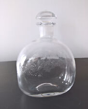 Glasflasche Likörflasche Flasche geschliffener Stöpsel skandinavisches Design