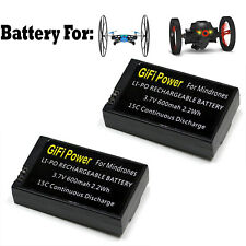 2x LiPo Battery For PARROT MINIDRONES Jumping Sumo Rolling Spider 600mAh 15C x2