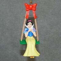 "Christmas Ornament Resin DISNEY SNOW WHITE w/ Bird on Swing Children 4.5"""