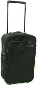 Hartmann Nylon Black Expandable Rolling Travel Bag Suitcase Luggage Carry On