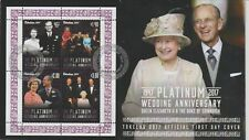 Tokelau 2017 M/S on First Day Cover Platinum Wedding Anniversary