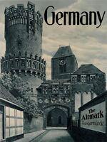 Vintage Travel Germany Altmark Tangermunde Art Canvas Print