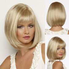 Charming BOB Full Wig Women Lady Short Straight Hair Wig Real Thick Synthetic