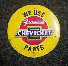 Altes Chevrolet Emailschild Blechschild Händler Tankstelle Gulf Esso Shell