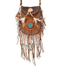 Indianer Umhängetasche Tasche Fasching Karneval Federn Fransen Accessoires Neu