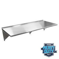 "Stainless Steel Commercial Kitchen Wall Shelf Restaurant Shelving - 14"" x 60"""