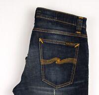 Nudie Jeans Herren Gerades Bein Slim Jeans Größe W32 L30 ATZ496