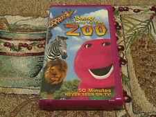 ~BARNEY~LET'S GO TO THE ZOO~BABY BOP~BJ~ANIMALS~KIDS EDUCATIONAL VHS~TESTED~VG~