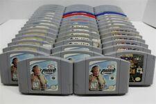 N64 Nintendo 64 Lot Of 50 Sports Games- Madden 2000, Kobe Bryant, WCW vs NWO