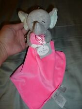 NWT - Carter's Hot Pink Plush Elephant Security Blanket