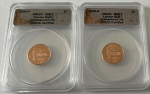 2009 P&D 1c LINCOLN CENT PROFESSIONAL LIFE - ANACS MS67