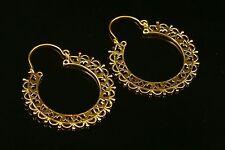 dangle Tribal Gypsy Gold Earring Brass Jewelry Brass Antique handmade