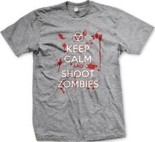 Keep Calm And Shoot Zombies Death Undead Walker Mens T-shirt