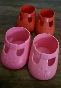 RARE AND HARD TO FIND RED AND PINK CHINA MARKED ORIGINAL MC SHOES