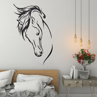 Vinyl RemovableWall Decal Head Of Horse Sticker Murals Living Room Decor N SL