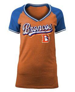 """Denver Broncos Women's New Era NFL """"Classic"""" V-Neck Short Sleeve Shirt"""