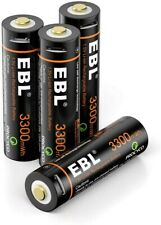 EBL USB AA Batterie Ricaricabili con Micro USB Cavo, Pile Ricaricabili da 3300mW