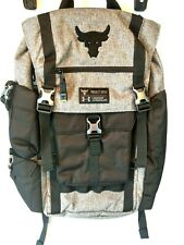Under Armour Project Rock Backpack UA Regiment Bag Gray Grey Chase Greatness New