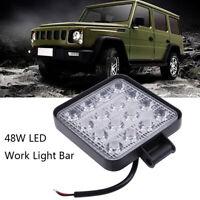 4 Inch 48W LED Work Light Truck OffRoad Tractor Spot Lights 12V 24V SquarWRD
