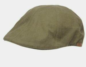 Firetrap Honor Gatsby Mens Cap Hat Khaki 100% COTTON One Size S241