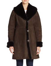 Blue Duck Shawl Collar Genuine Shearling Coat Size:M $2199 NWT