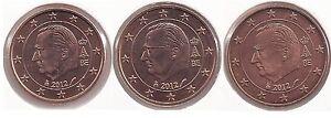 BELGIUM - SET of Euro coins 2012  1c 2c 5c uncirculated