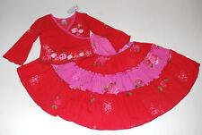 NWT Indygo Artwear Rambling Roses Rouge Rara Pink Red Floral Skirt Set 2T (2 3 4