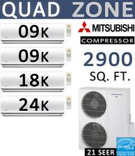 60000 BTU Ductless Mini Split Air Conditioner Heat Pump 9000 x2 + 18000 + 24000