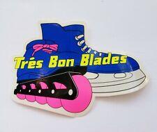 ROLLERBLADING Retro 1990's Tres Bon Blades Vintage INLINE Skating STICKER
