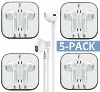 Wholesale 5-Pack Premium Earphones/Earbuds/Headphones with Stereo Mic & Remote