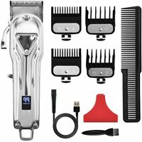 Professional Hair Clippers Men's Rechargeable Cordless Trimmer Shaver Barber Set