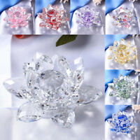 4 Inch Crystal Lotus Flower with Gift Box, Wedding Gift Feng Shui Ornaments