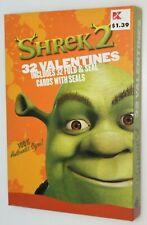 2004 Shrek Valentines Day Cards - 32 Valentines - Fold & Seal with Seals - NIB