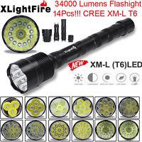 XLightFire 34000 Lumens 11x XML T6 5 Mode Super Bright LED Flashlight Torch