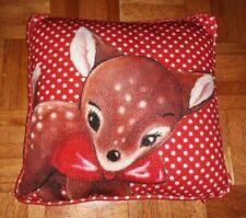 Deer/Fawn Retro image Cushion.