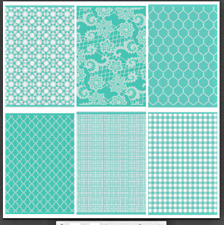 """Cricut Cuttlebug 6  piece 5"""" X 7"""" Embossing Folders New in Packages"""