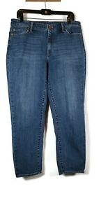 Talbots Flawless Blue Girlfriend Cropped Denim Jeans Size 12