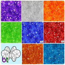 BeadTin Transparent 12mm SunBurst Plastic Craft Beads (400pcs) - Color choice