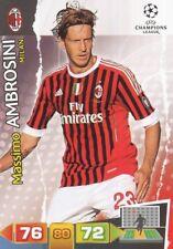 MASSIMO AMBROSINI ITALIA AC.MILAN CARD ADRENALYN CHAMPIONS LEAGUE 2012 PANINI