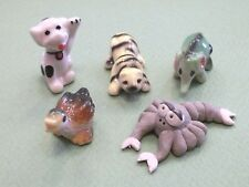 animaux pour vitrine, crèche ou collection, lot de cinq,animal, divers s5-6