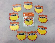 NEW SALE PRICE TAGS SALE Yellow Red Promotion Offer Retail Large Display Tagx200