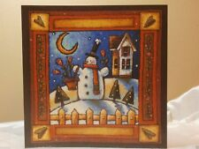 Holiday Christmas Seasonal Card Snowman & Envelope Greeting Gift Post Vintage