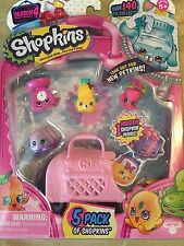 NEW SHOPKINS Season 4 5 Pack with GALE SCALES BIG TOPPING JIGGLY PETA