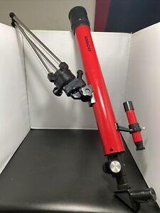 Tasco Telescope Adjustable Tripod Mount Aluminum 50x50mm Model 5T Red Novice