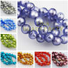 10pcs 10mm/14mm Round Silver Foil Lampwork Glass Loose Beads for Jewelry Making