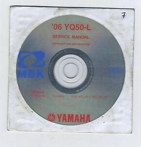 (CD7) CD MANUEL ATELIER MOTO MBK YAMAHA YQ50-L 2006