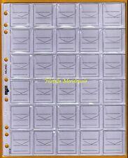 Buste Fogli UNI ECO 30 Caselle per Sistemare Monete in Raccoglitore 10 Pz.