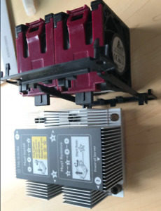 New HP DL380 DL380p G10 CPU Kit, Heatsink 875070-001 & 2 Fans 870931-001, Cage